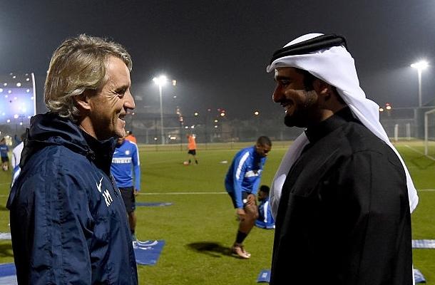 Mancini allenamento Inter Qatar