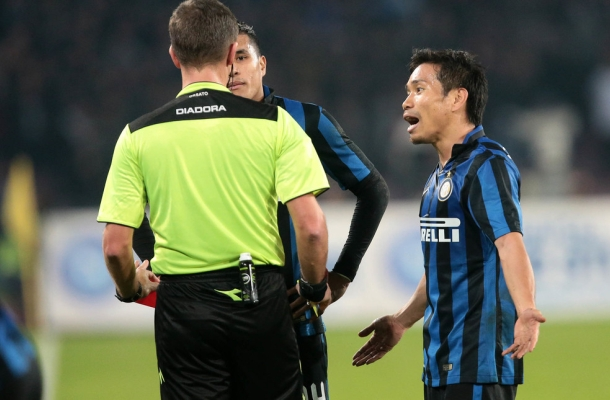 Espulsione Nagatomo Napoli-Inter