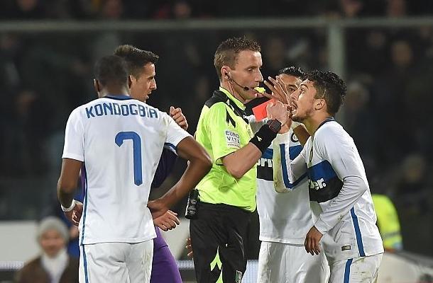 Telles Mazzoleni Fiorentina-Inter