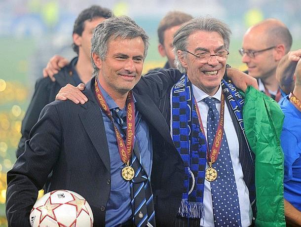 Moratti Mourinho Inter