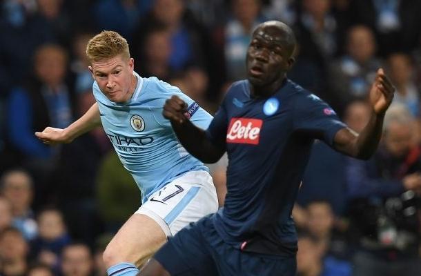 De Bruyne Koulibaly Manchester City-Napoli