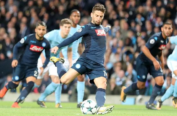 Dries Mertens Manchester City-Napoli