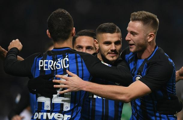 Icardi Škriniar Perišić Inter-Atalanta
