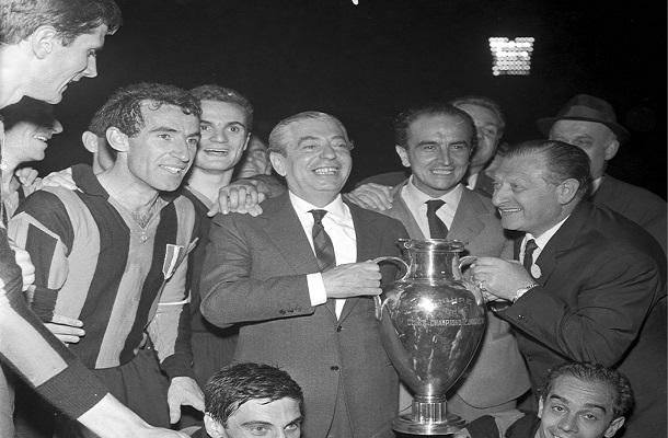 Angelo Moratti Inter Coppa dei Campioni 1964
