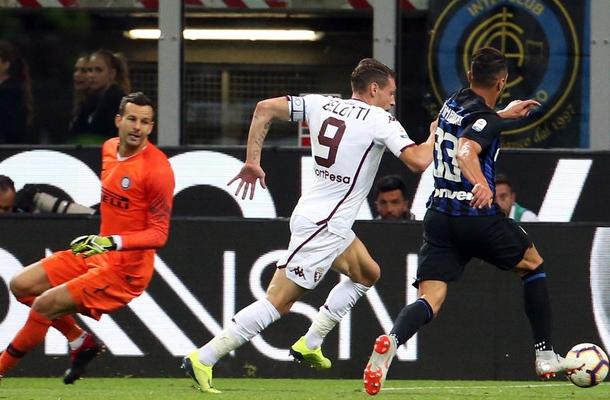 Belotti Handanovic Inter-Torino