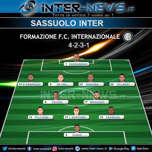 Sassuolo Inter Formazione Ufficiale