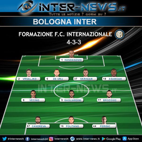 Bologna-Inter Formazione Finale