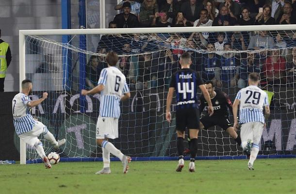 Antenucci rigore SPAL-Inter
