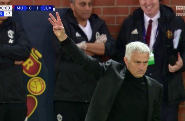 José Mourinho Manchester United-Juventus