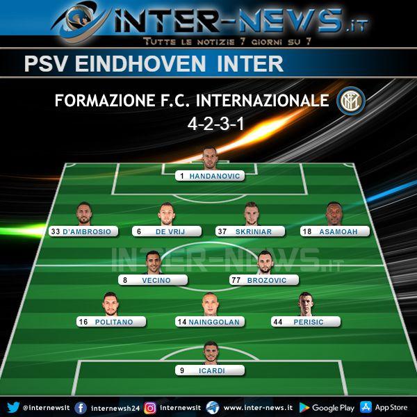 PSV-Inter Formazione Ufficiale