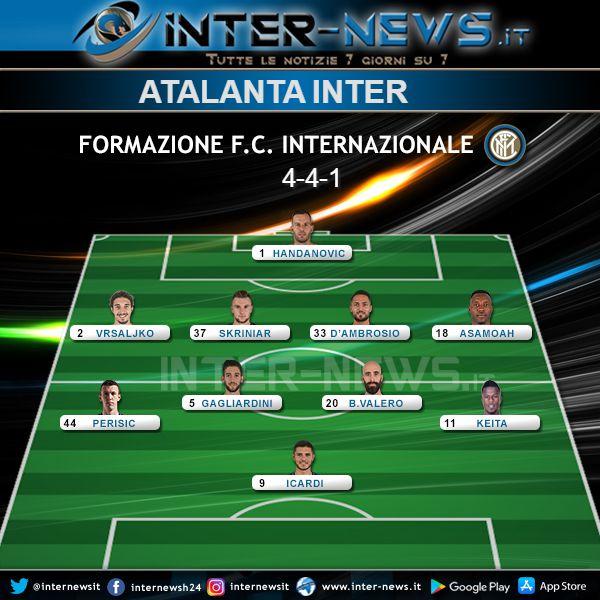 Atalanta-Inter Formazione Finale