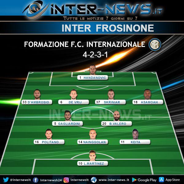 Inter-Frosinone Formazione Ufficiale