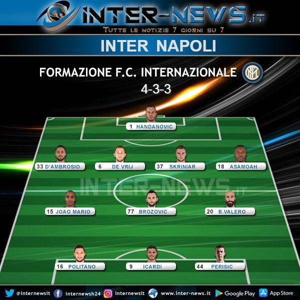 Inter-Napoli Formazione Ufficiale