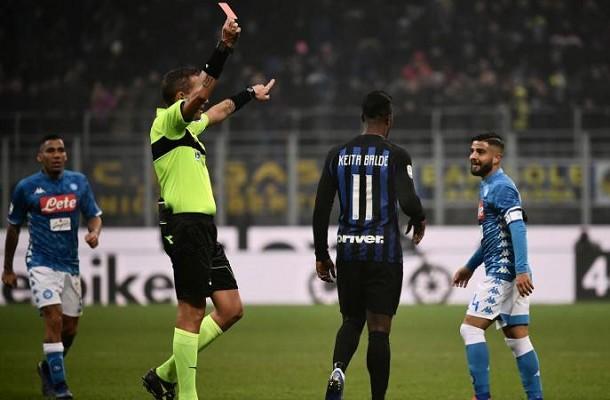 Lorenzo Insigne Inter-Napoli espulsione