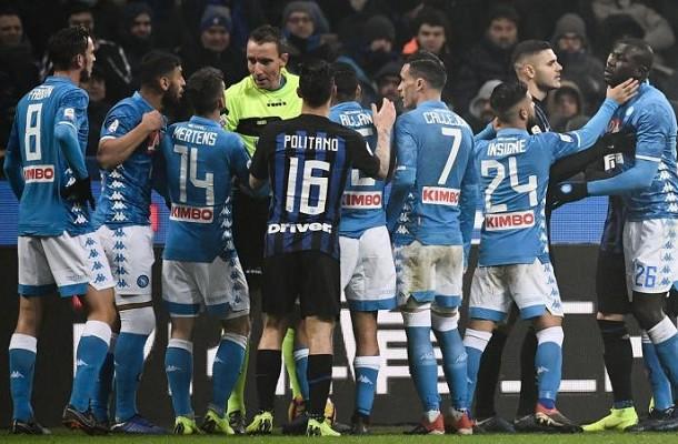 Mazzoleni Koulibaly Inter-Napoli