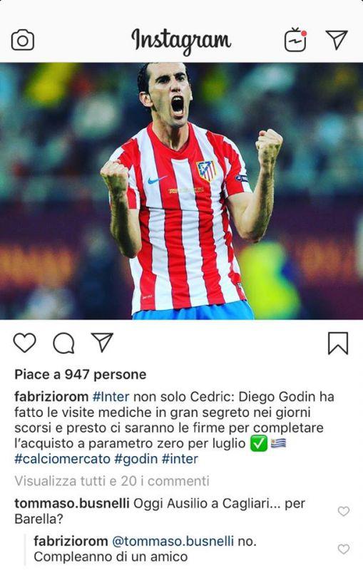 Diego Godin Romano Barella
