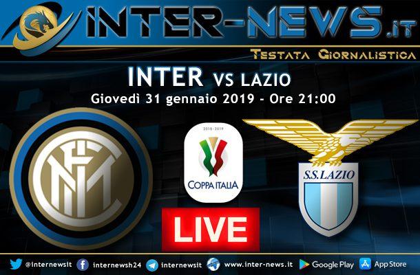 Inter-Lazio-Coppa Italia-Live