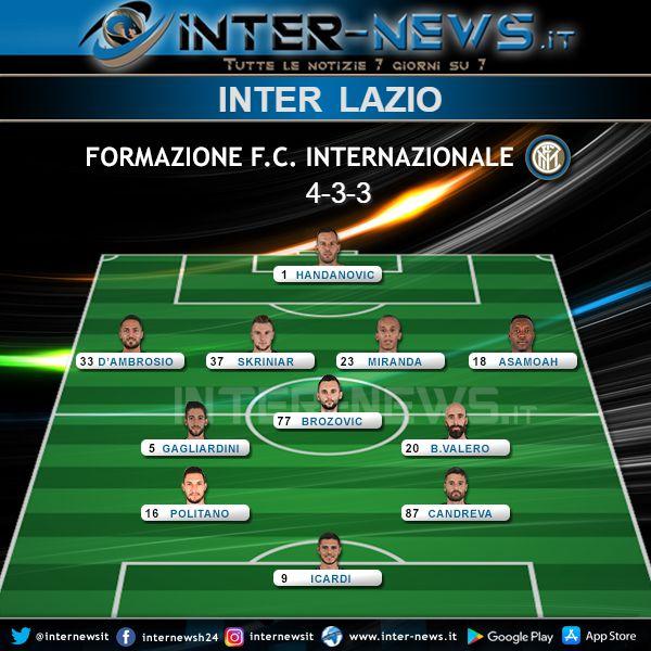 Inter-Lazio Formazione Ufficiale