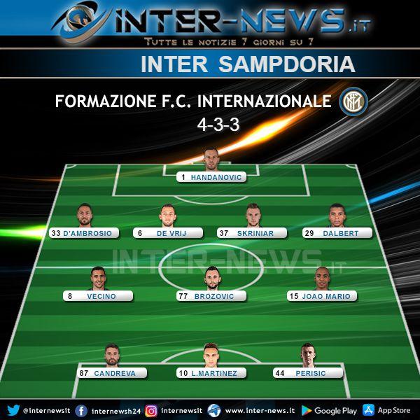 Inter-Sampdoria Formazione Finale