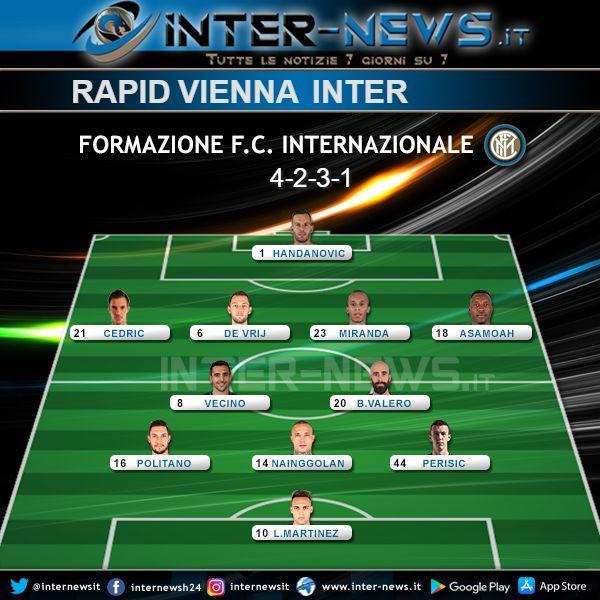 Rapid Vienna-Inter Formazione Ufficiale