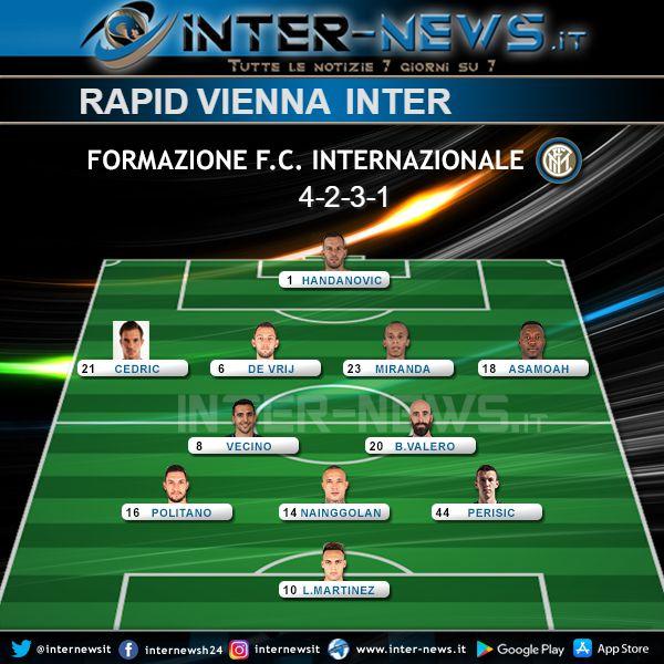 Rapid Vienna-Inter Probabile Formazione