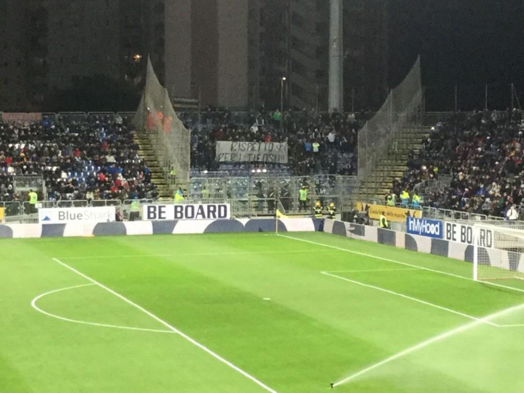 Cagliari-Inter striscione