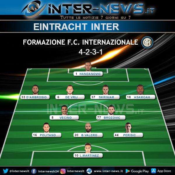 Eintracht-Inter Formazione Ufficiale