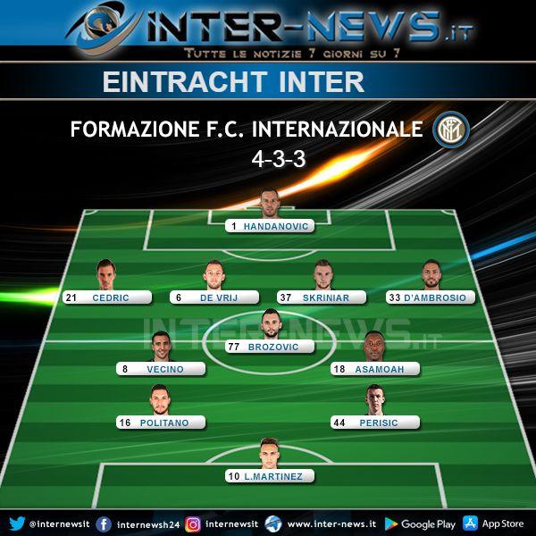 Eintracht-Inter Probabile Formazione