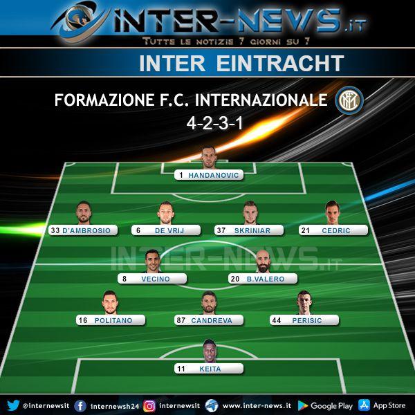 Inter-Eintracht Formazione Ufficiale