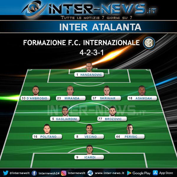 Inter-Atalanta Formazione Ufficiale