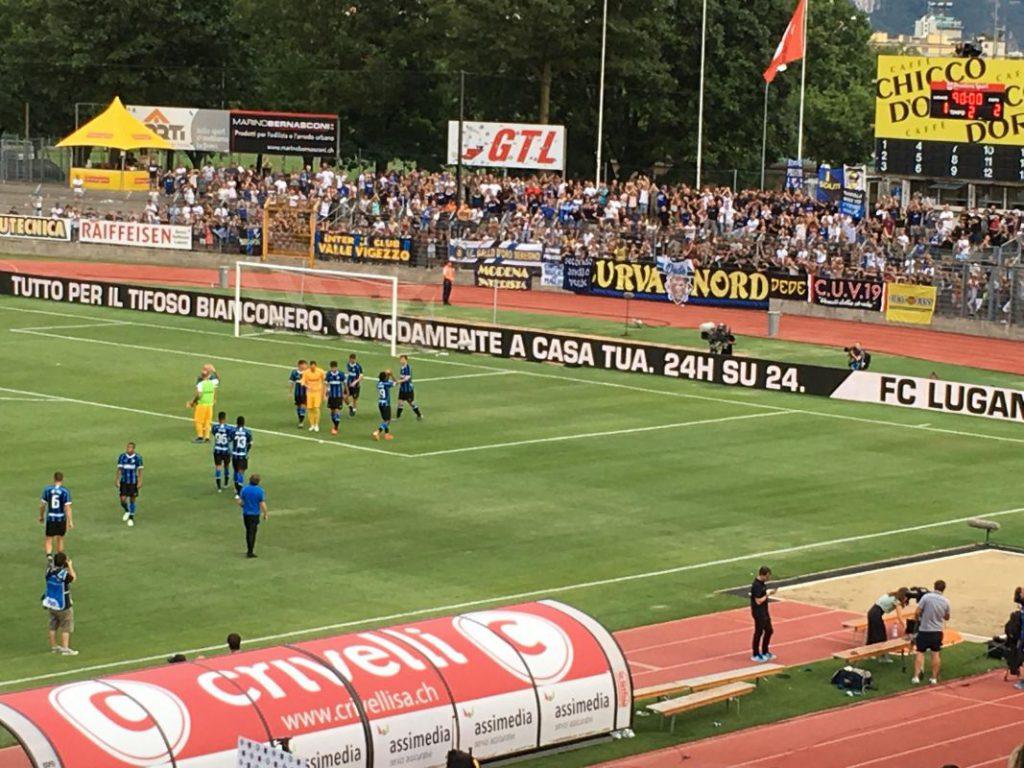 Lugano-Inter curva