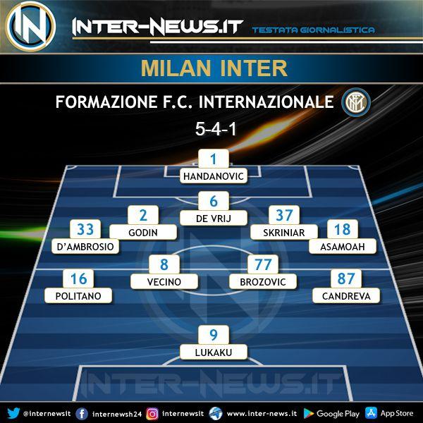 Milan-Inter Formazione Finale