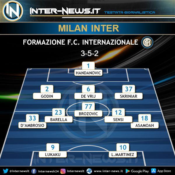 Milan-Inter Formazione Ufficiale