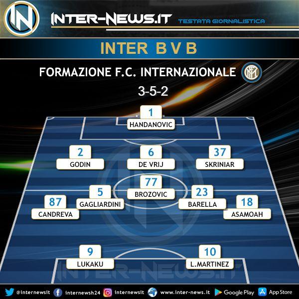 Inter-Borussia Dortmund Probabile Formazione