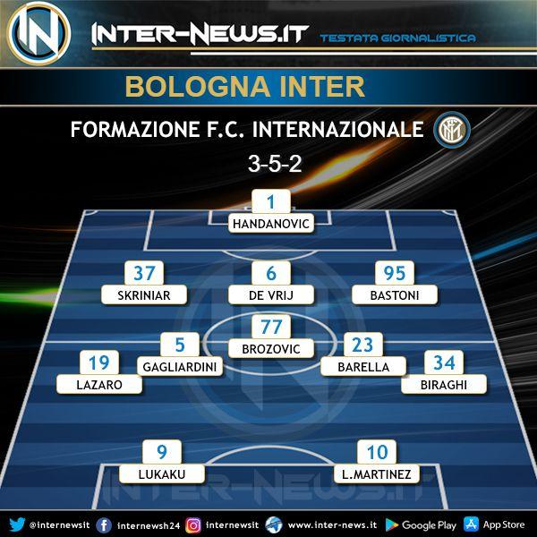 Bologna-Inter Probabile Formazione