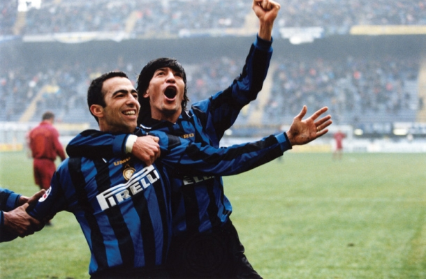 Djorkaeff Zamorano Inter-Roma