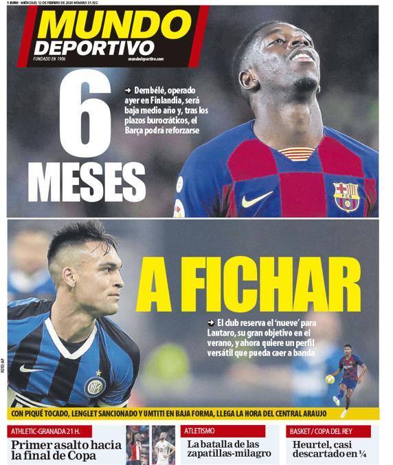 Mundo Deportivo Lautaro Martinez
