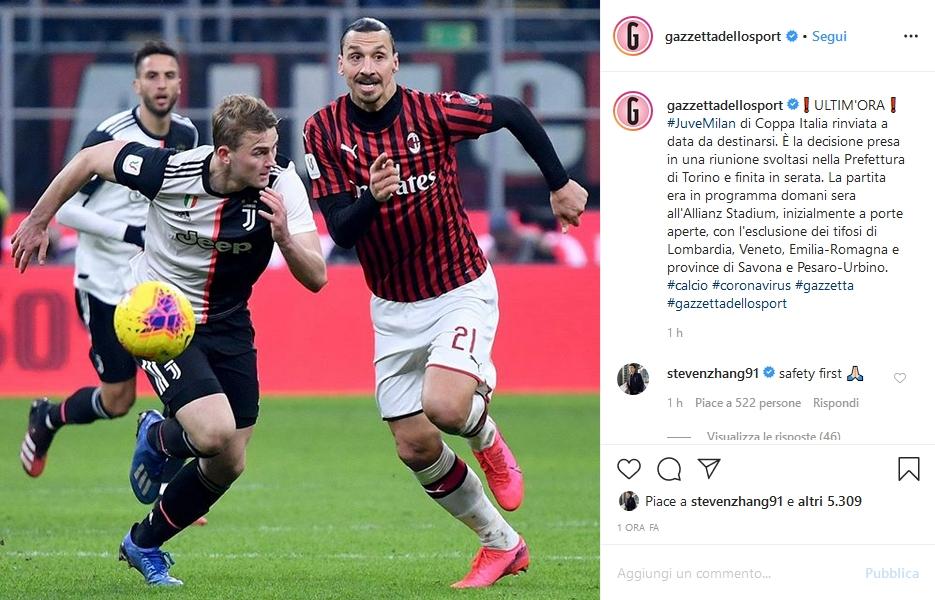 Steven Zhang Juventus-Milan