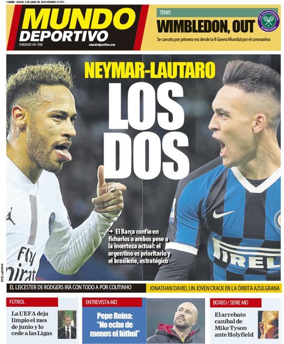 Mundo Deportivo 2 aprile