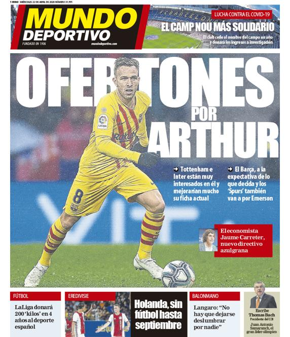 Mundo Deportivo 22 aprile