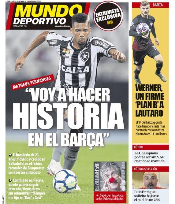 Mundo Deportivo 23 aprile