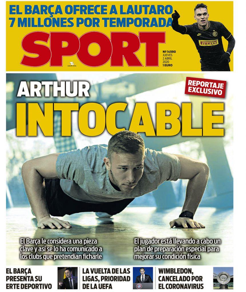 Sport 2 aprile