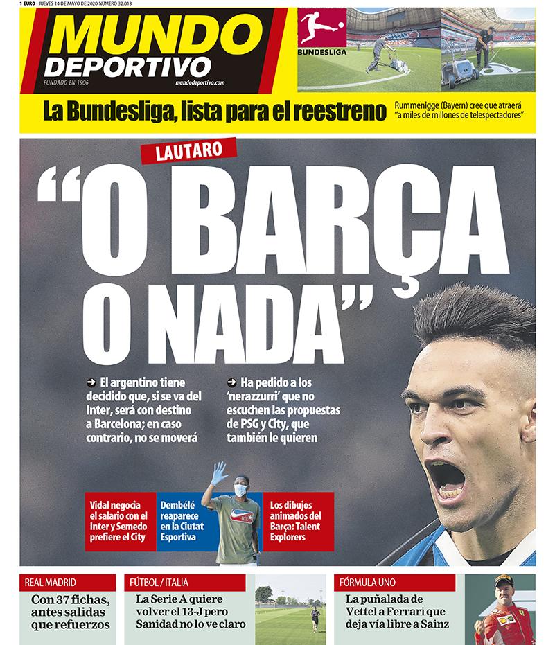 Mundo Deportivo 14 maggio