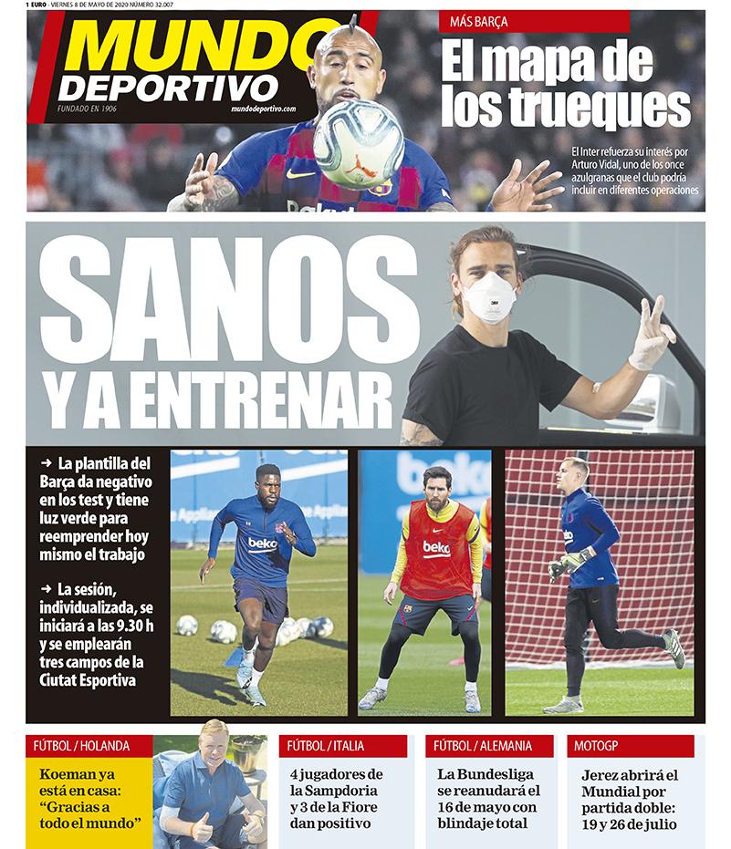 Mundo Deportivo 8 maggio