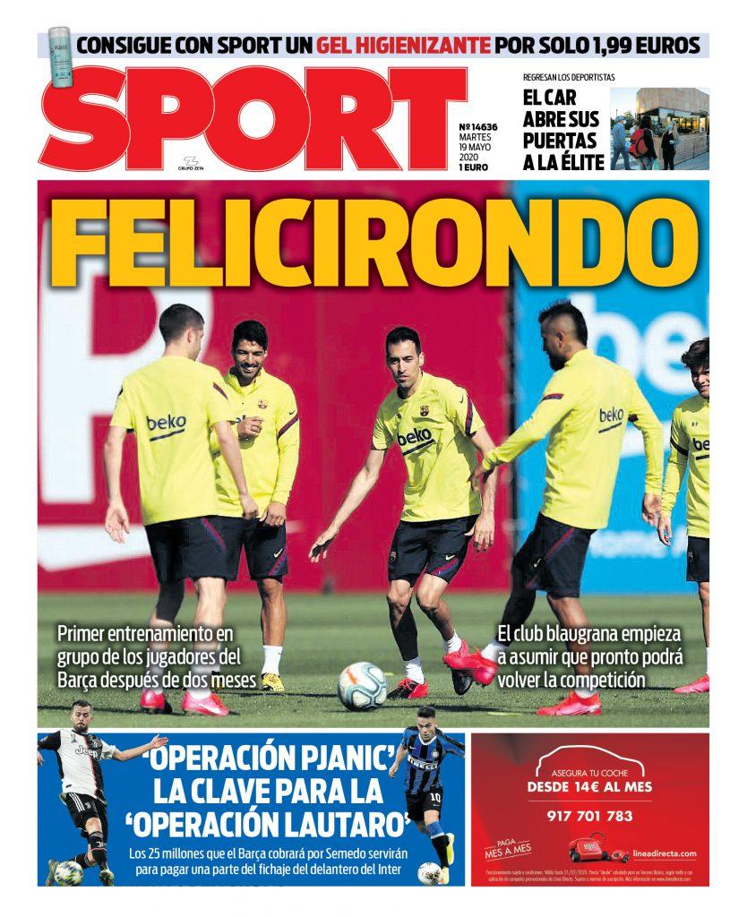 Sport 19 maggio