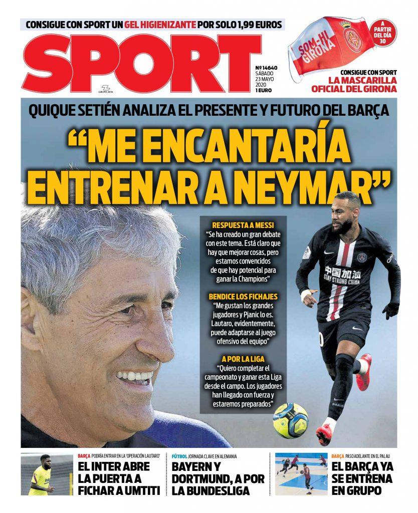 Sport 23 maggio