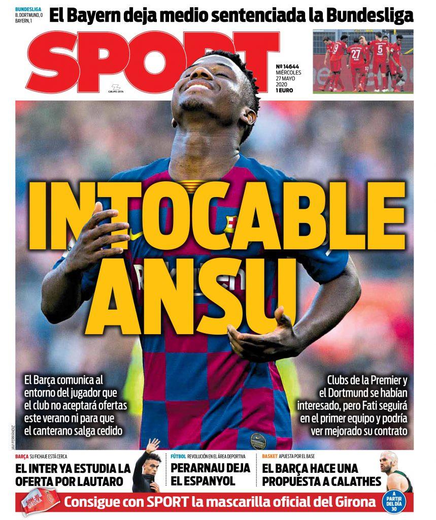 Sport 27 maggio