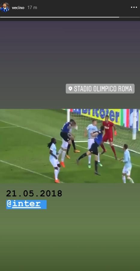 Vecino Lazio-Inter Instagram