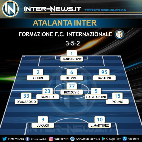 Atalanta-Inter Formazione ufficiale
