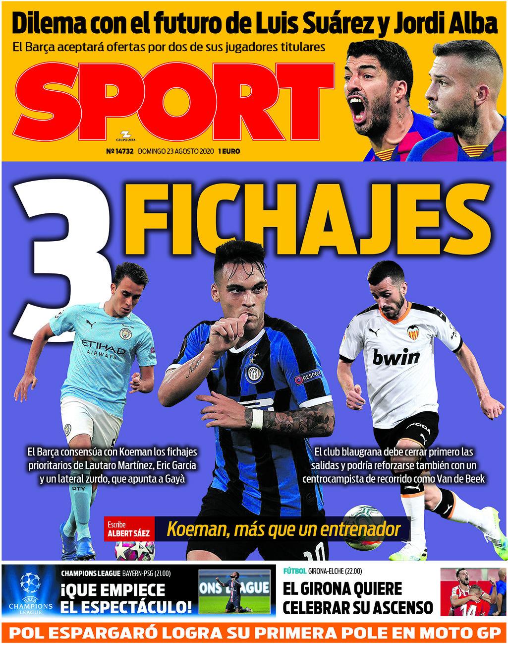 Sport 23 agosto
